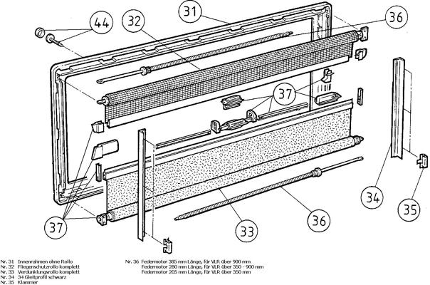 Federmotor 385mm L Nge Dometic Seitz Ersatzteil Nr Fm0012