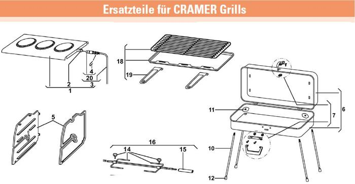 grillrost u fettpfanne f r cramer dometic classic gasgrill von dometic ersatzteile bei camping. Black Bedroom Furniture Sets. Home Design Ideas
