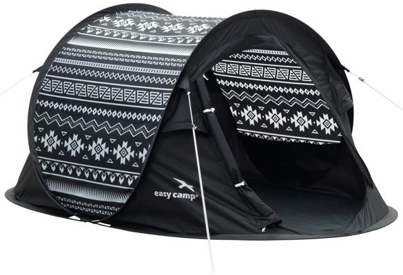 easy camp antic tribal pop up zelt 2 personen schwarz wei von easy camp outdoor bei camping. Black Bedroom Furniture Sets. Home Design Ideas