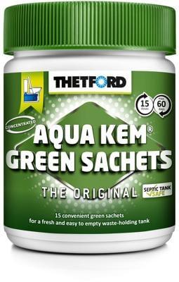 thetford aqua kem green sachets 15x30g von thetford. Black Bedroom Furniture Sets. Home Design Ideas