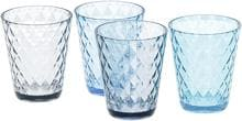 Brunner Diamond Trinkgläser, 300ml, 4er Set