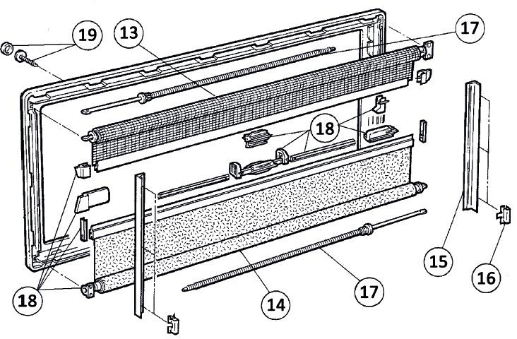 Dometic Verdunklungsrollo f/ür S3 und S4 1300 x 600 grau