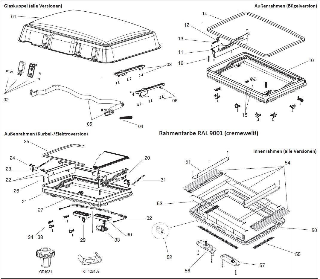 funktionsplatte f r kurbel elektroversion dometic seitz ersatzteil nr bg1704 f r midi heki. Black Bedroom Furniture Sets. Home Design Ideas