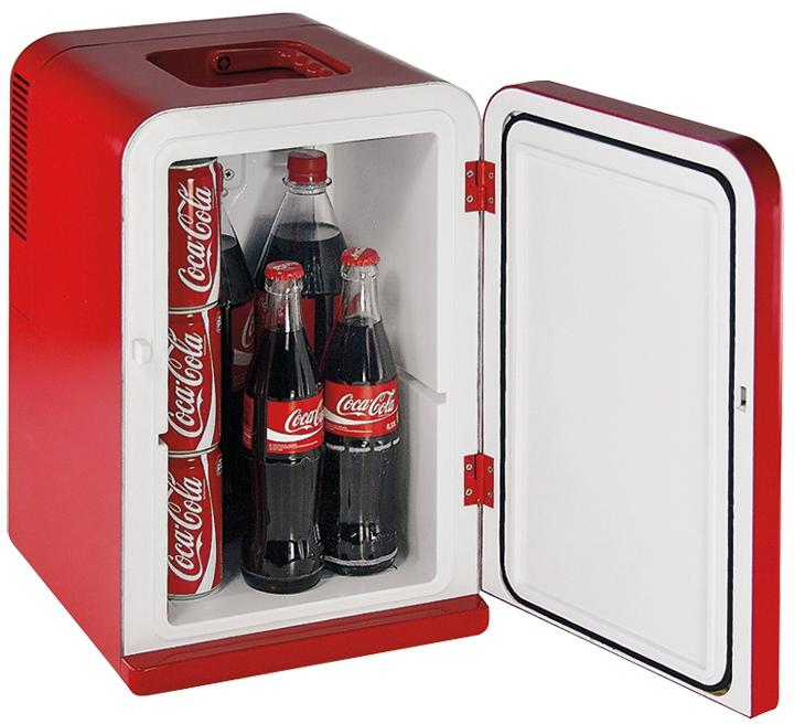 coca cola mini fridge mf15 k hlbox 12 230v 14l von. Black Bedroom Furniture Sets. Home Design Ideas