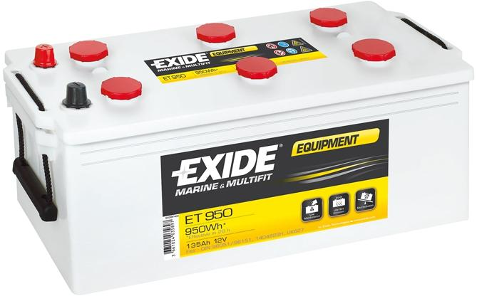 exide equipment et 950 blei s ure batterie 135ah von. Black Bedroom Furniture Sets. Home Design Ideas