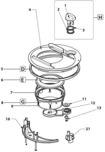 mechanismus komplett thetford ersatzteil nr 5072706. Black Bedroom Furniture Sets. Home Design Ideas