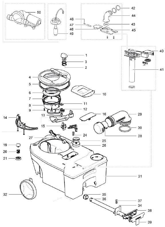 mechanismusdichtung 50724 passend zu thetford. Black Bedroom Furniture Sets. Home Design Ideas