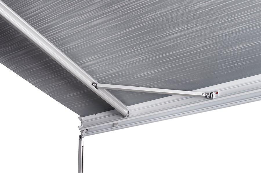 thule omnistor 9200 markise wei mit motor alaska grau 400cm von thule omnistor markisen bei. Black Bedroom Furniture Sets. Home Design Ideas