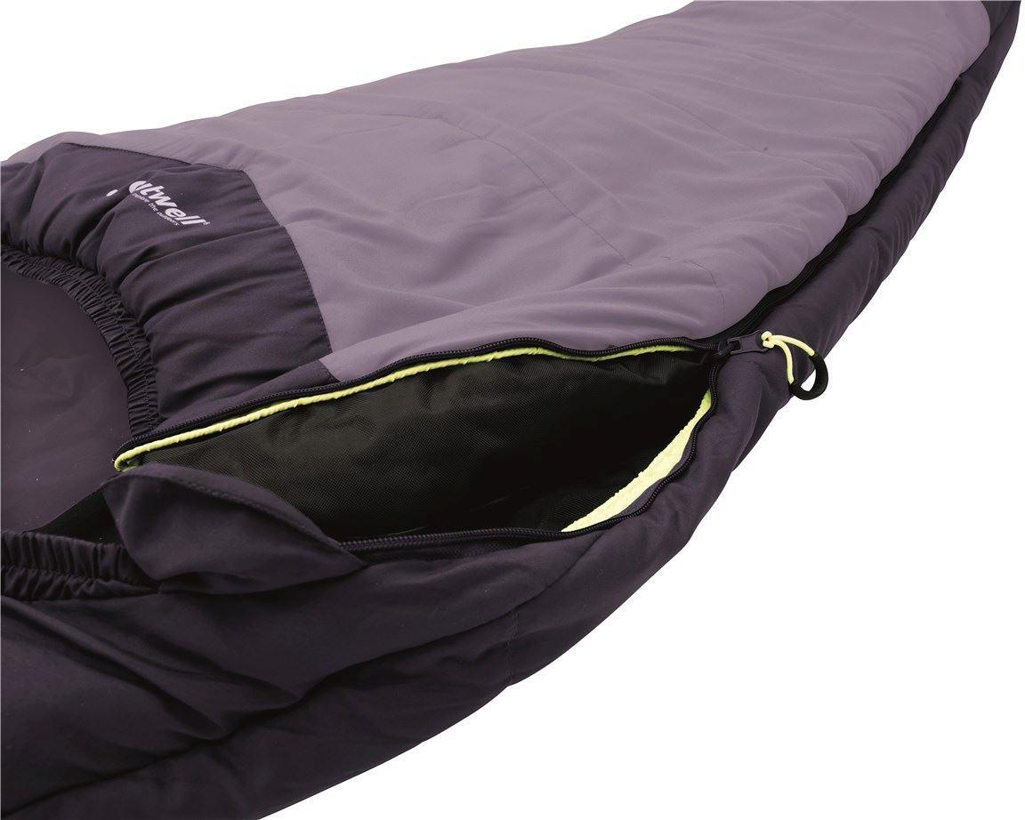 Outwell Schlafsack Deckenschlafsack Campion Isofill Lux dunkelgrün 225x85cm Kopf