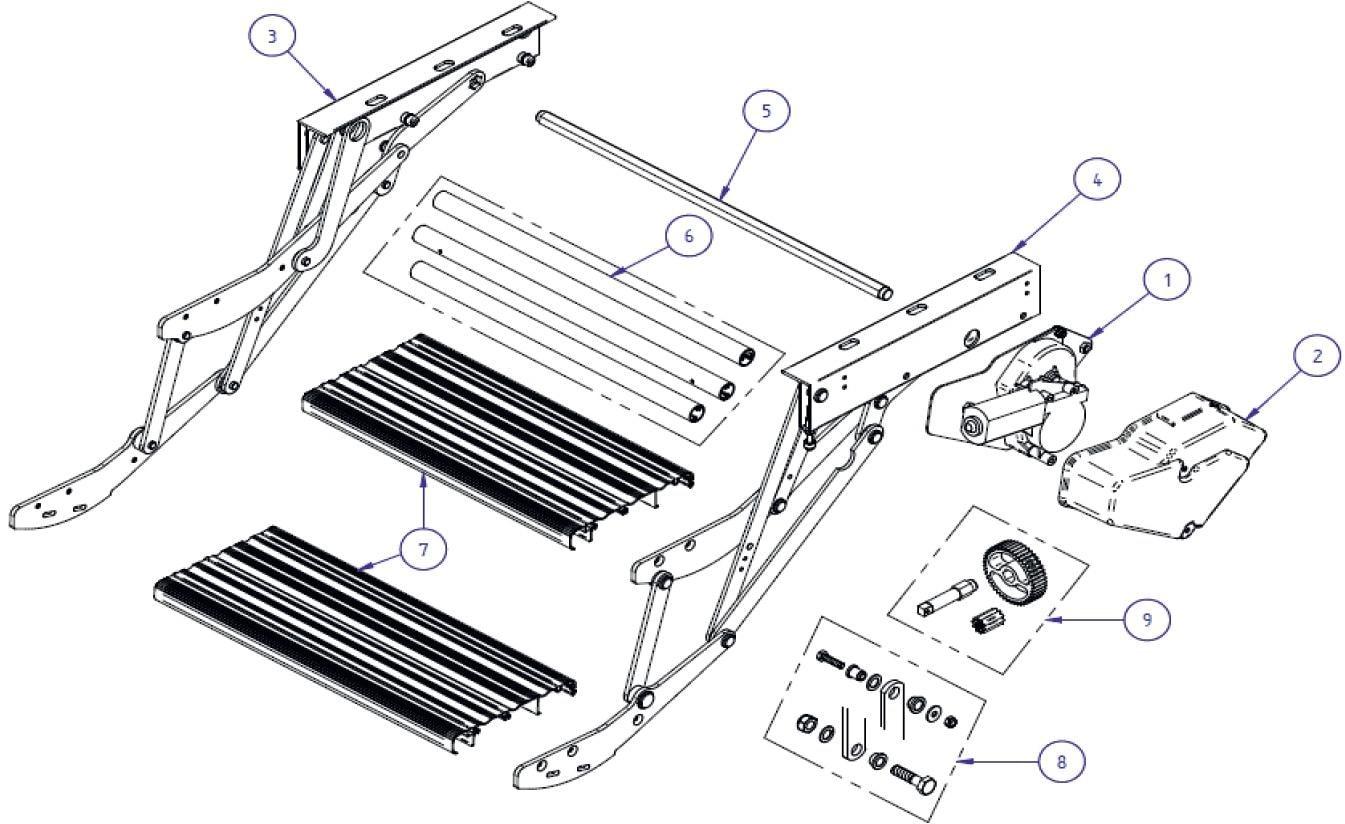 motor 12v thule ersatzteil nr 1500600416 passend zu double step 12v von thule ersatzteile. Black Bedroom Furniture Sets. Home Design Ideas