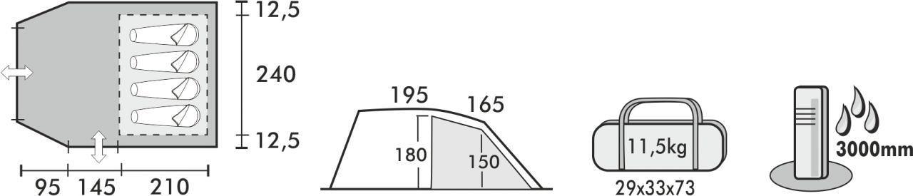 Westfield Lyra 4 Zelt, 4 Personen