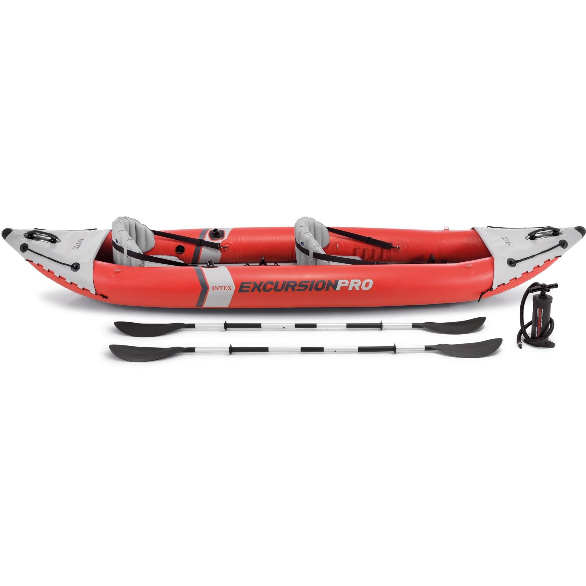 Paddel INTEX Excursion Pro Kajak Set Schlauchboot Pumpe für 2 Personen