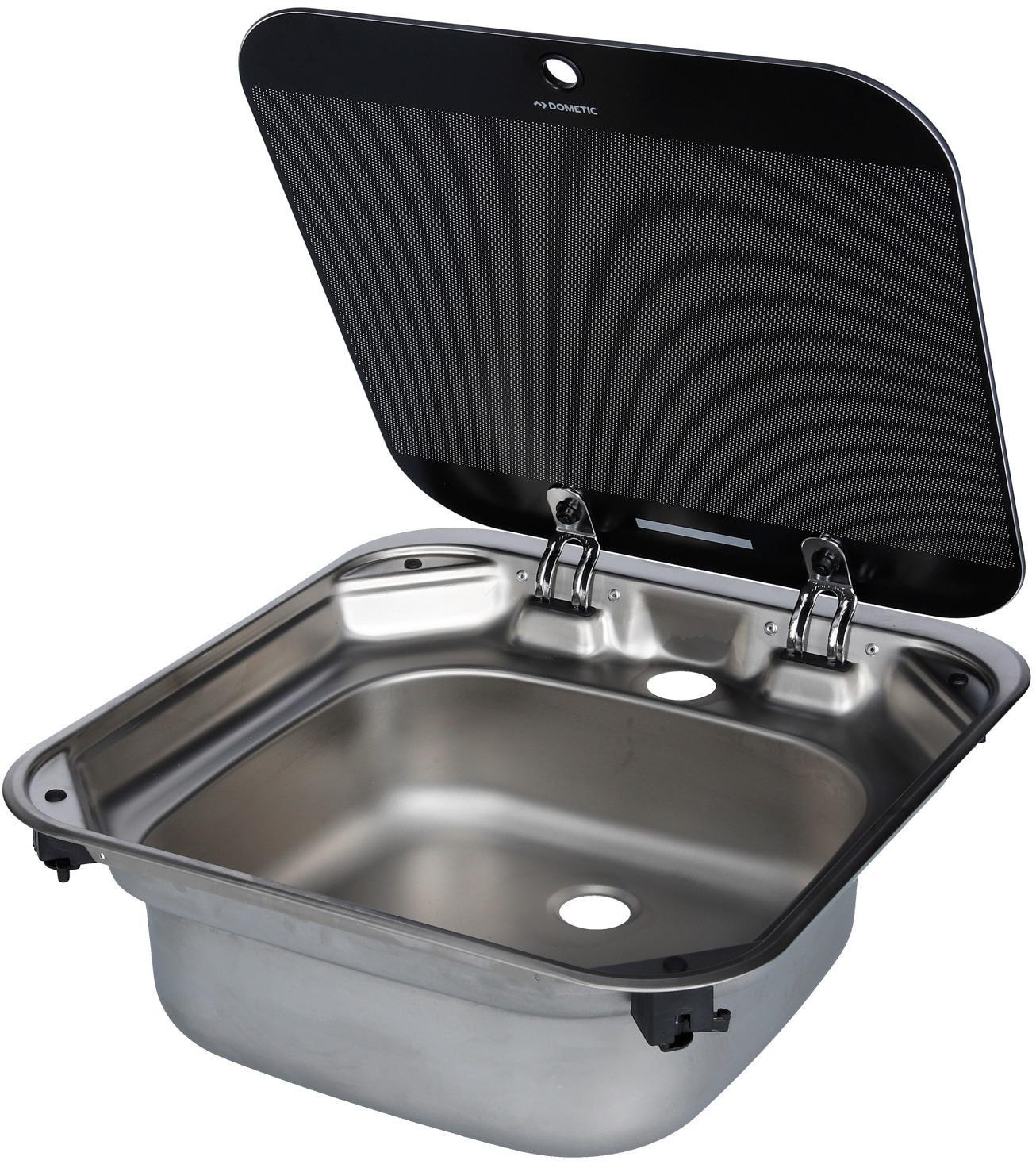 Dometic Sng 4244 Spulbecken Mit Glasabdeckung Von Dometic Wasser Sanitar Bei Camping Wagner Campingzubehor