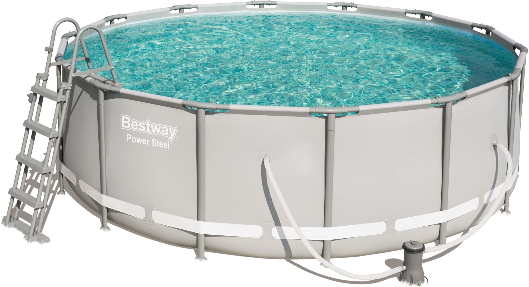 Sehr Bestway Power Steel Frame Pool, Komplett-Set, rund, mit WO33